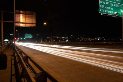 Liberty Bridge Light Painting