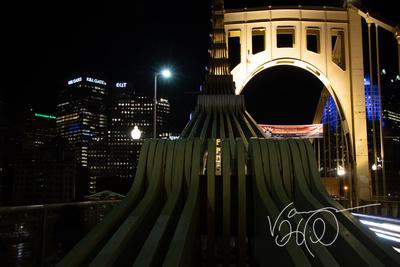 Views of the Roberto Clemente Bridge